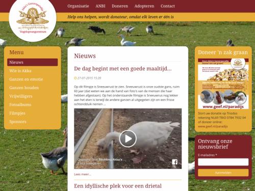 Nieuwe website ganzenparadijs